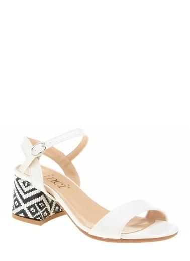 İnci Sandalet Beyaz